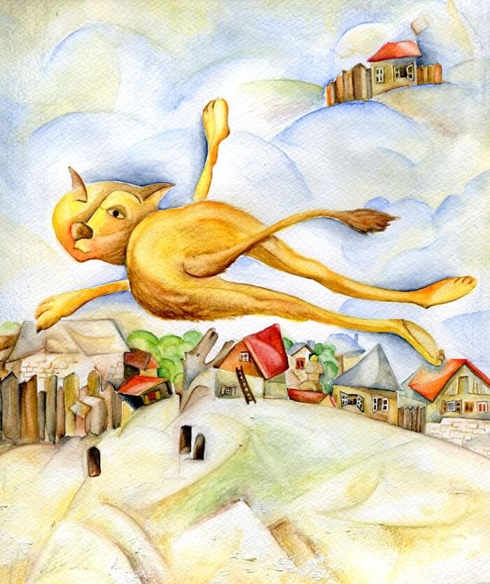 10-Inspired-By-Marc-Chagall-Veselka-Velinova-Paintings-of-12-Cats-in-Different-Art-Styles-www-designstack-co