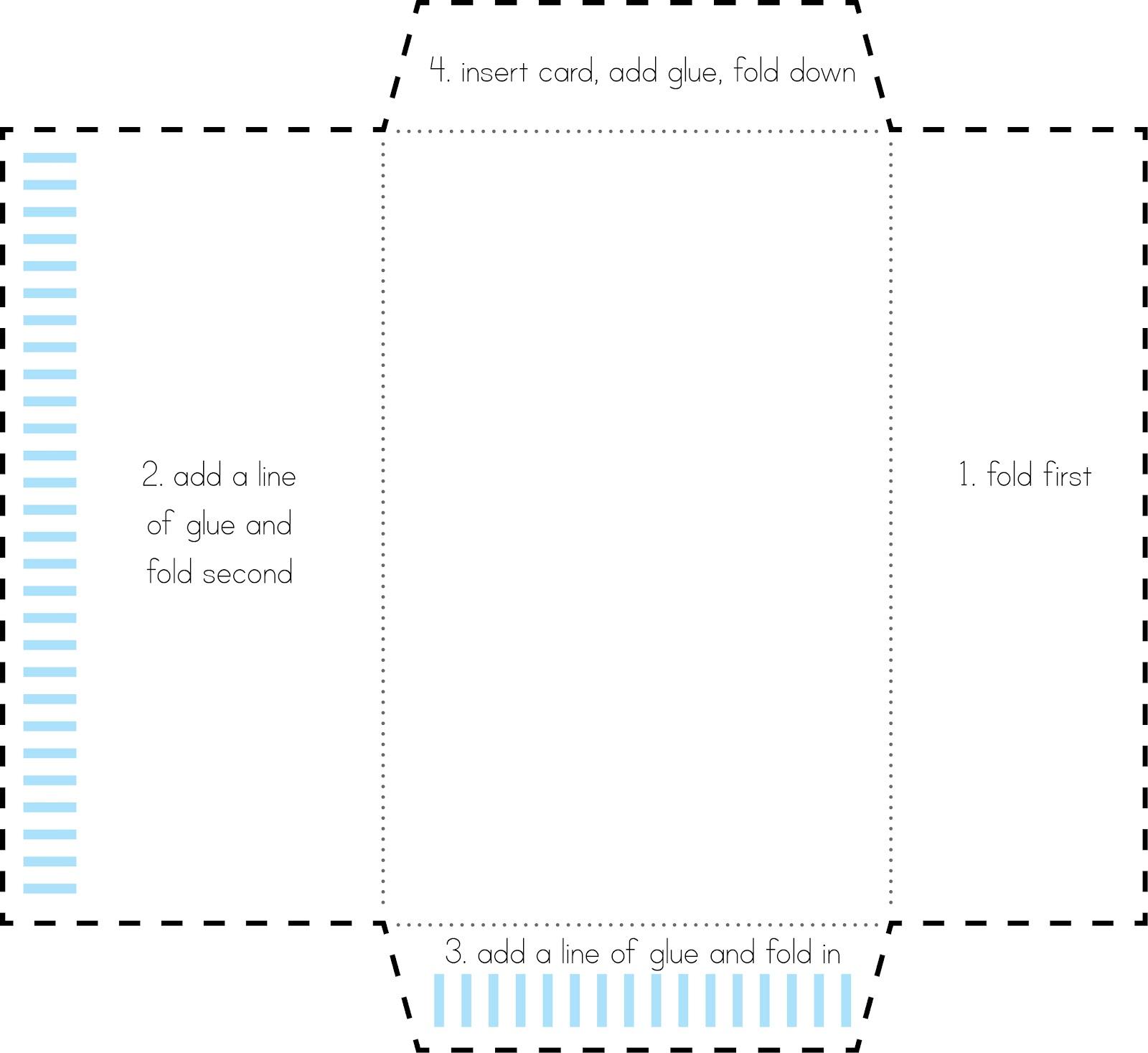 Fold Envelope Template Kleobeachfixco - Make your own envelope template