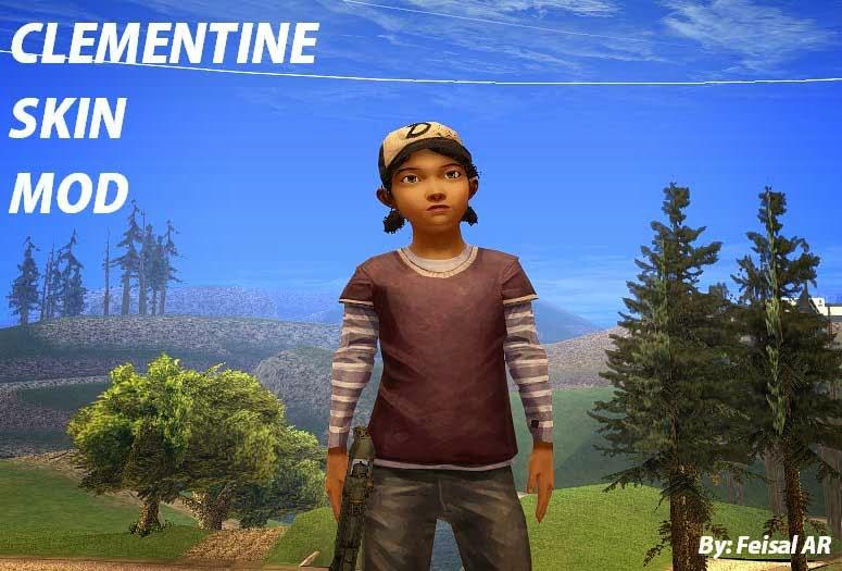 Clementine The Walking Dead Season 2 Gta San Andreas