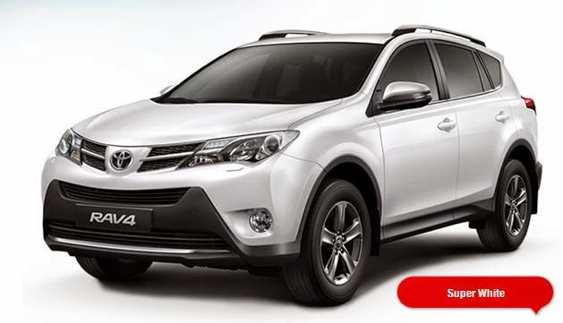 warna Toyota RAV4 - Super White