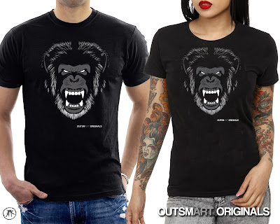 outsmART originals Gorilla Mascot T-Shirt by Jon-Paul Kaiser