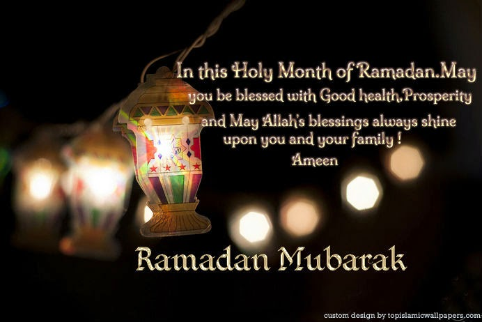In this holy month of ramadan, may you be blessed with good health, prosperity and may allah's blessings always shine upon you and your family.