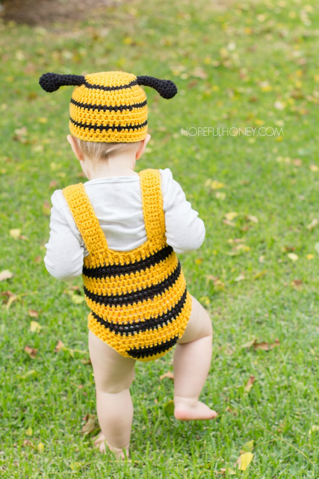 Bumble Bee Baby Hat & Playsuit Set – Crochet Pattern + Giveaway