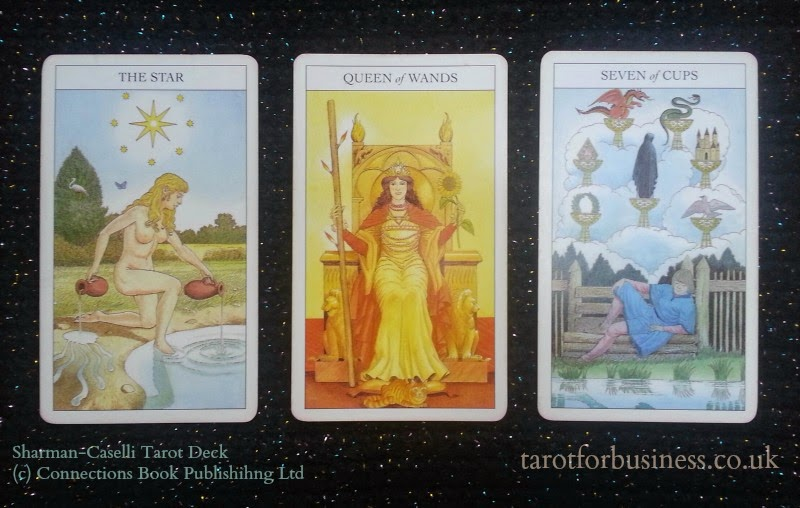 sharman caselli tarot three card spread
