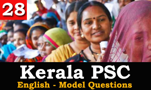 Kerala PSC - Model Questions English - 28