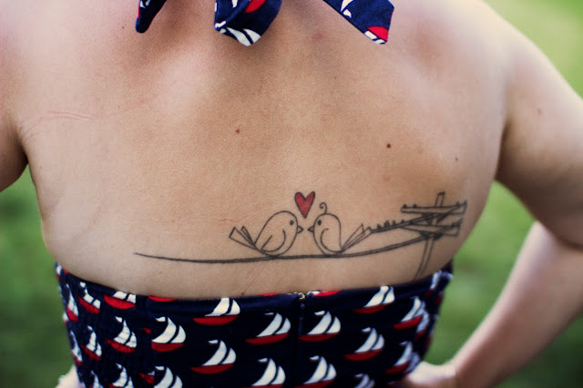 Two Love Birds Tattoos