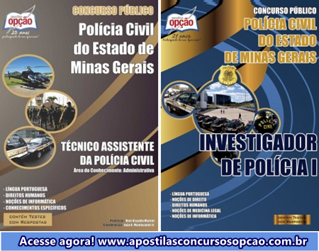 Apostila PCMG INVESTIGADOR DE POLÍCIA