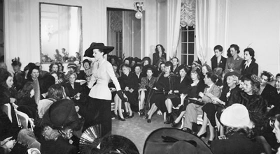 "Model at Christian Dior Premiers His ""New Look"" Collection February 12, 1947"