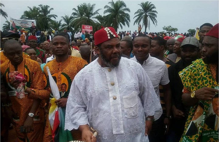 Pete Edochie at the flag-off of Anambra Airport City project in Umueri