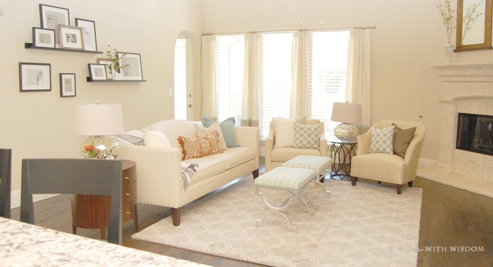 Style With Wisdom A Great Room From Simple To Styled