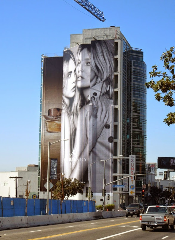 Giant My Burberry fragrance billboard Sunset Strip