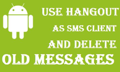 Hangout as SMS client