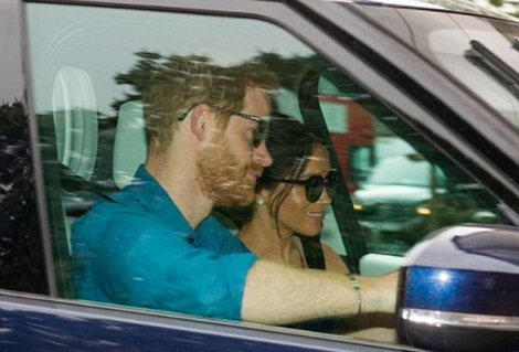 First Photo Of Harry & Meghan After Their Wedding