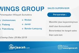 Lowongan Kerja Aceh Terbaru 2019 D3 dan S1 Gaji di atas 5 Juta sebagai SPV  Wings Group