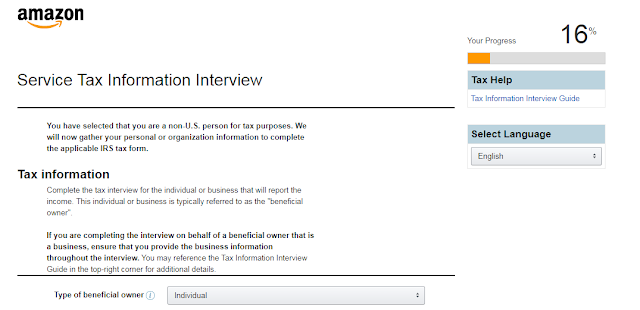 Service Tax information interview for non-us citizens