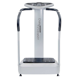 Crazy Fit Vibration Plate Pro Whole Body Exercise Platform Machine, silver, picture, image, review features and specifications