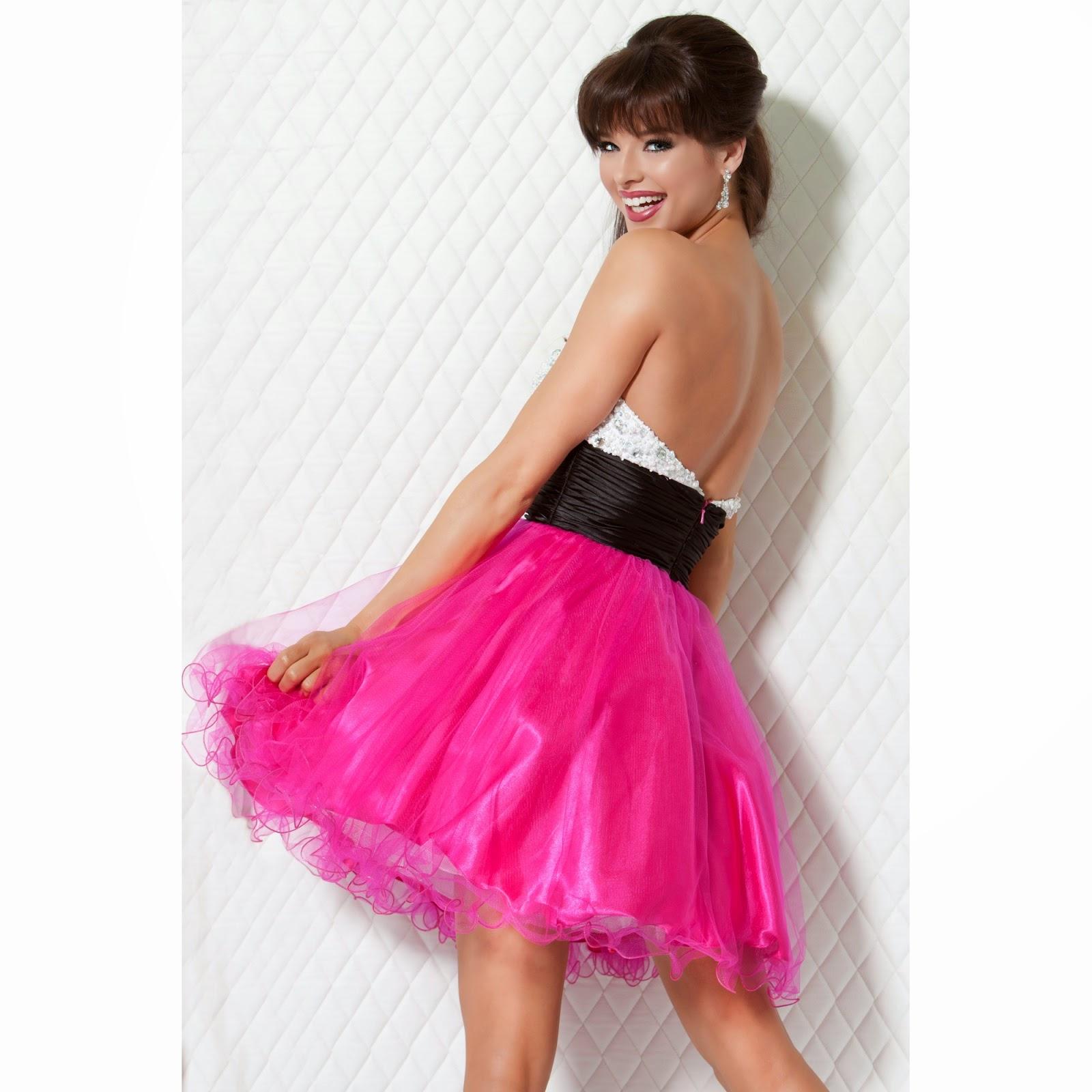 Increíble Vestidos De Fiesta Con La Espalda Y Los Lados Abiertos ...