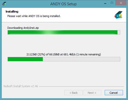 برنامج andy لتشغيل  العاب و برامج الاندرويد على الحاسوب