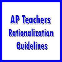 ap teachers rationalization guidelines and norms 2017