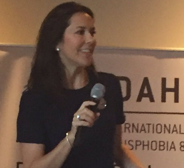 Crown Princess Mary attended the official opening of the European Conference IDAHO Forum at Admiral Hotel. Princess Mary wore Prada dress, fashions
