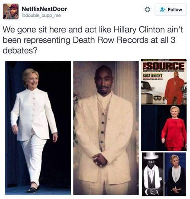 Hilary Clinton representing Death Row Records