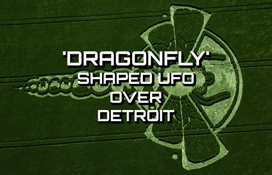 'Dragonfly' Shaped UFO Over Detroit
