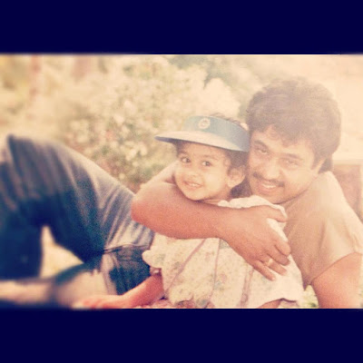 Aishwarya with her dad