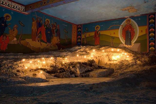 Ο τόπος λιθοβολισμού του Αγίου Πρωτομάρτυρος Στεφάνου έξω από τα τείχη της Ιερουσαλήμ.