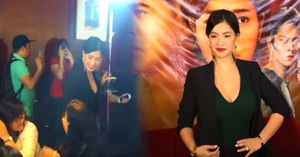 Angel Locsin Looked Hot When She Arrived As Jacintha Magsaysay At The Press Conference Of La Luna Sangre!