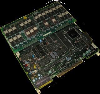 Fotografía con la placa arcade Sega System 16B