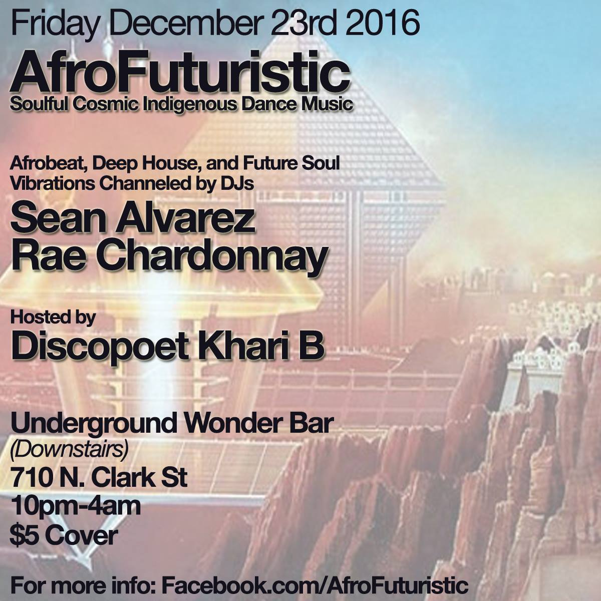 Friday Dec.23rd: AfroFuturistic @Underground Wonder Bar