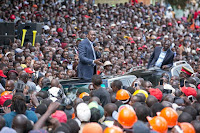 After insulting RAILA ODINGA in Central, UHURU now vows to do this to baba in 2017