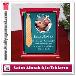 Babaya Özel Fotoğraflı ve Mesajlı Plaket