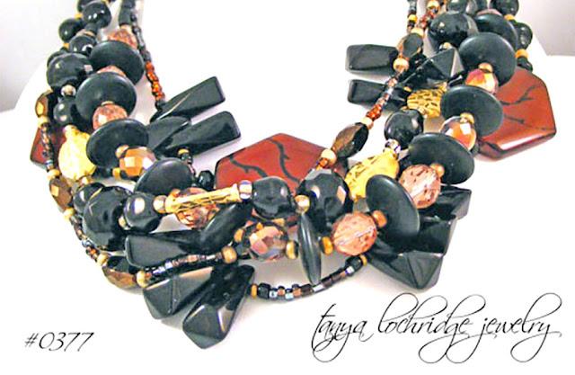 Tanya Lochridge Jewelry Agate, Onyx, Crystal Quartz Gemstone Necklace
