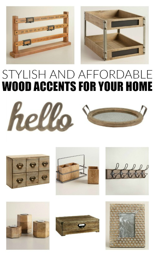 Stylish and affordable wood accents for your home little for Affordable home accents