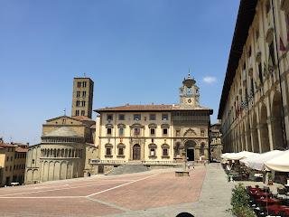 Arezzo's sharply sloping Piazza Grande