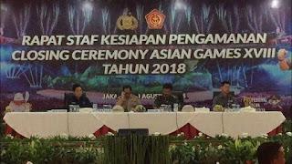 9.422 Personel Polri-TNI Amankan Pesta Penutupan Asian Games