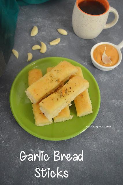 Garlic Bread Sticks Recipe   Domino's style Garlic Breadsticks