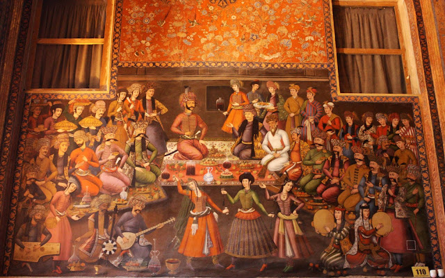 Wall painting showing Iranian Nowruz Party.