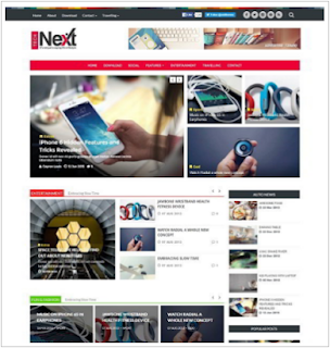 Download TechNext Responsive Blogger Template Free