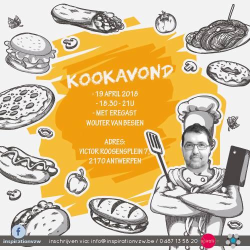 Zin om lekker te koken en een politicus van zijn beste kant te zien? Schrijf je dan zeker in via info@inspirationvzw.be