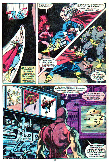 Avengers annual v1 #9 marvel comic book page art by Don Newton