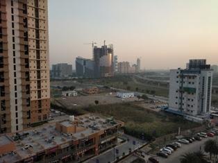 New winding flowing in big cities