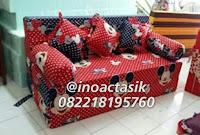 Sofa bed Inoac motif Mickey mouse merah inoactasik