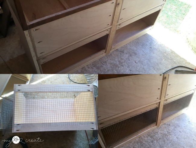 adding hardware cloth for hamper drawer