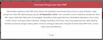 PMP Diperpanjang 30 November 2016