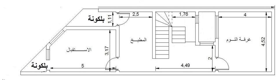 خريطة منزل مع الواجهة 520 عمو ساكه