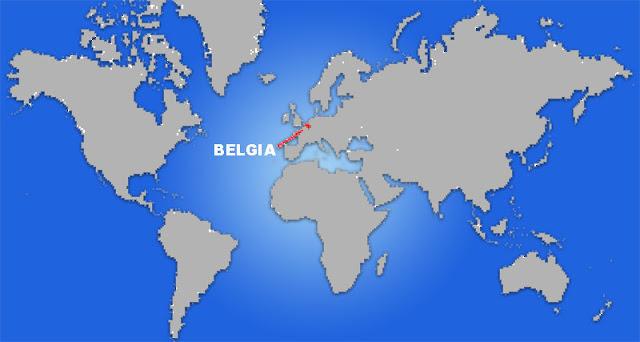 Gambar Peta letak negara Belgia