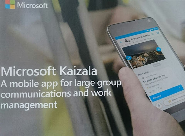 Microsoft Kaizala Secured Mobile App For Productivity