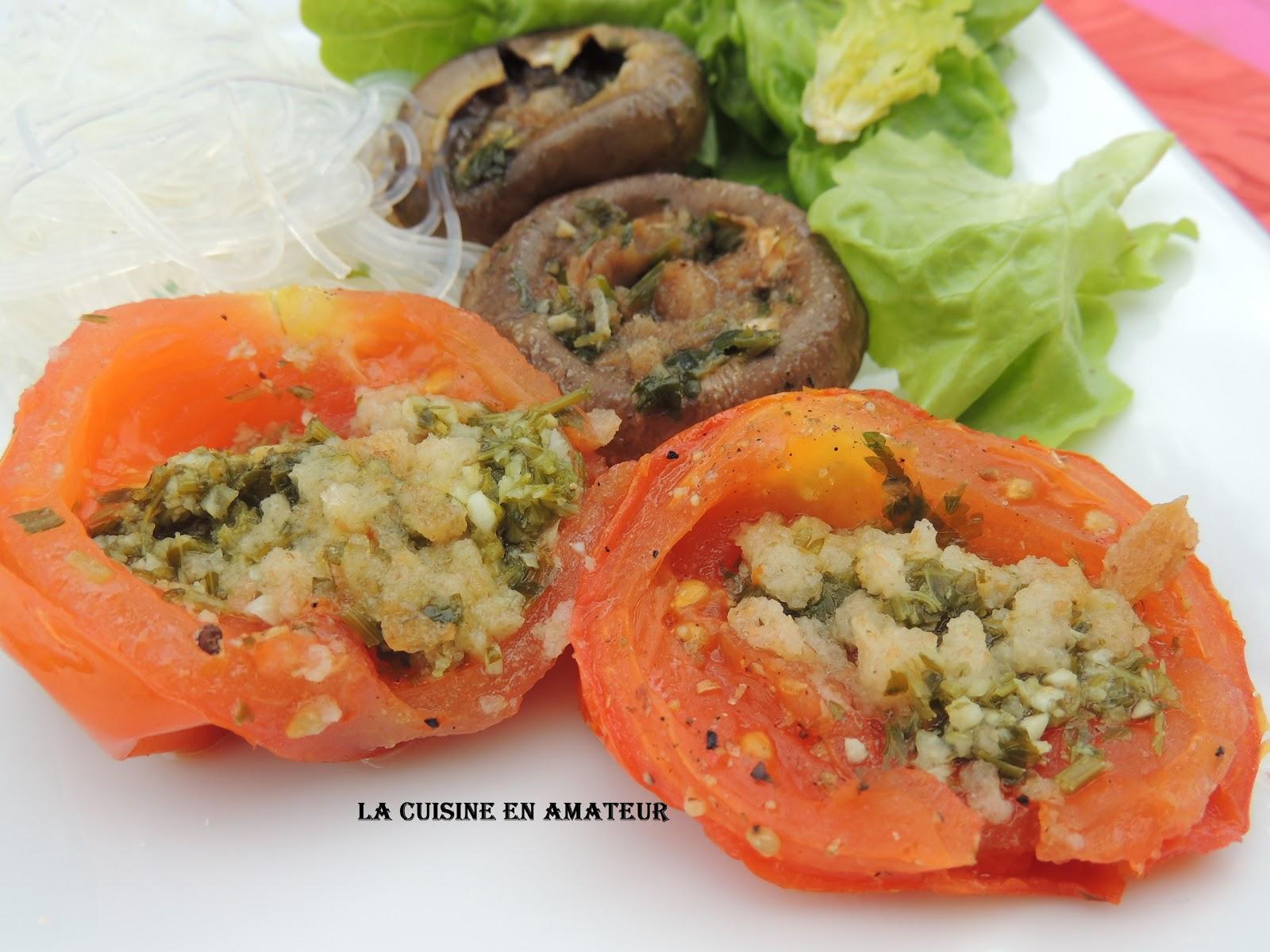 La cuisine en amateur de maryline tomates et champignons la proven ale la po le - Champignon de paris a la poele ...